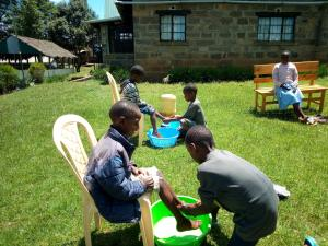 Children at vocational bible club (2 of 3)