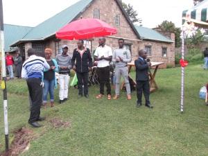 University graduates at handover ceremony